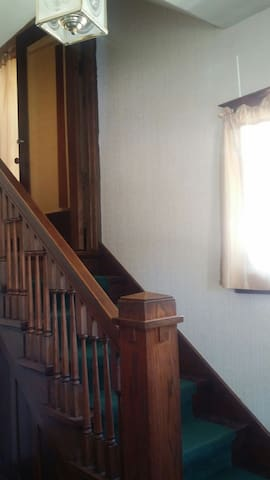Private entry to upstairs apartment