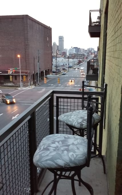 Looking over 22nd street on balcony of this unit
