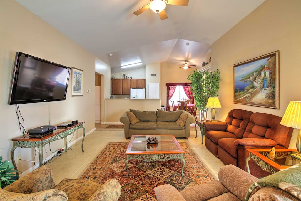 Make yourself at home in the well-appointed living space.