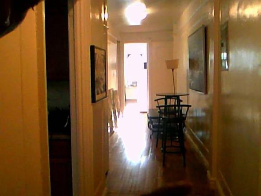 Hallway leading to bedroom