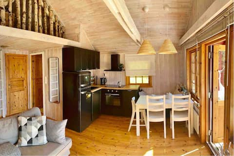 útulná chata pri Sognefjorde s fantastickým výhľadom