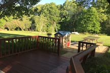shaded deck and patio