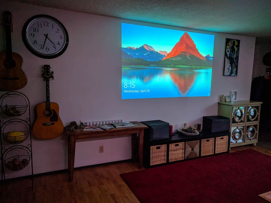 Living room in theater mode