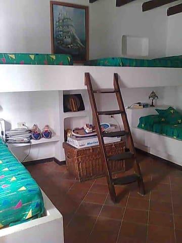 Habitacion en la Molina (4 camas) - Caleta del Sebo - Casa