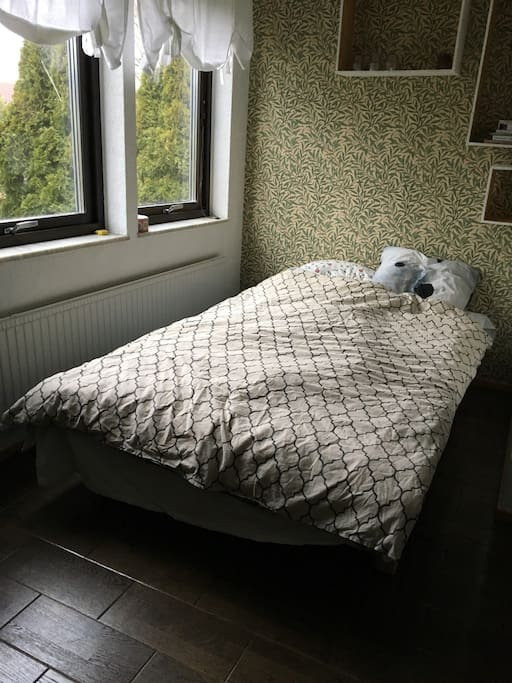 One of the bedrooms with 120 cm bed.