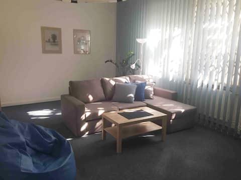 Modrý apartmán v krásné zahradě, parkování zdarma