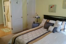 Bedroom with adjoining full bath.
