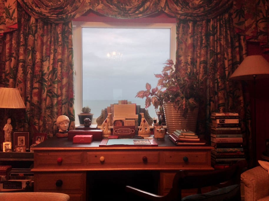 Guests Front Sitting Room overlooking the Irish Sea.