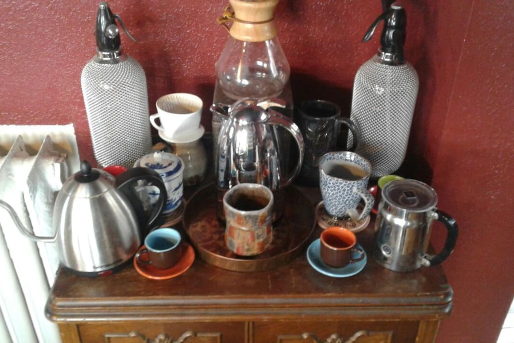 Aeropress, chemex, or pour-over coffee are my preferences. I'm happy to share some.