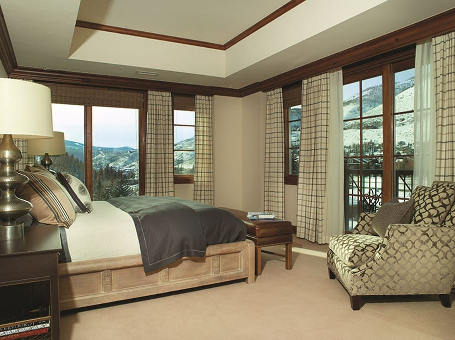 Get a good night's rest in the spacious master bedroom.