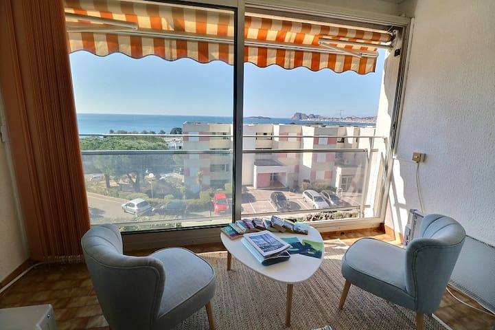 Studio proche mer avec vue panoramique