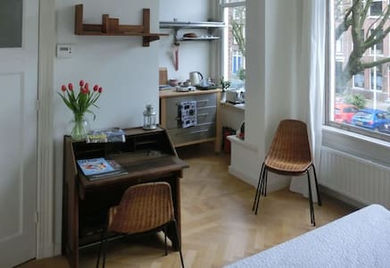 Nice room with adjacent bathroom and basic kitchen - Rotterdam - Townhouse