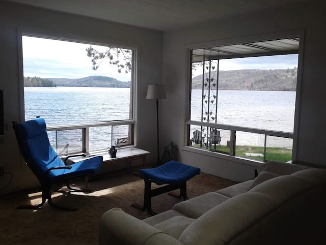 Beach House on Kamaniskeg Lake with Private Cove