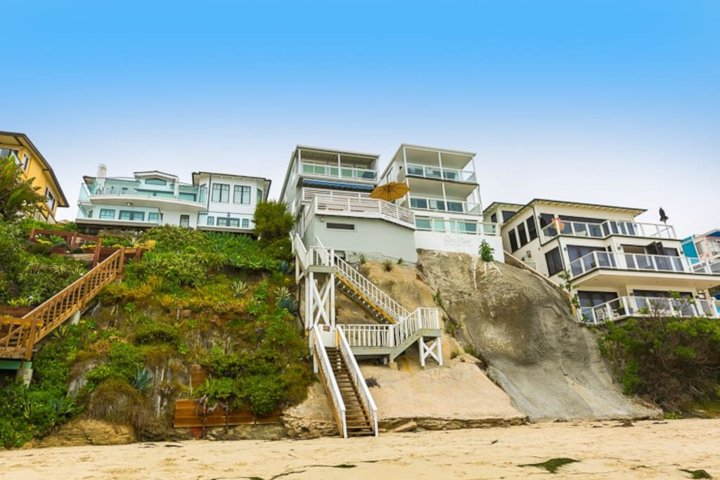View of the house looking up from the beach