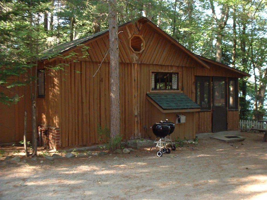 This is a Bellaire Log Cabin - Cabin # 4 at Harolds Resort on Spider Lake