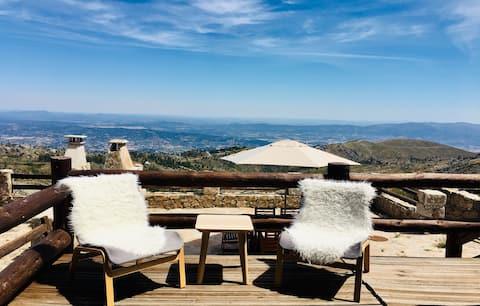 La meva muntanya Chalé Vista panoràmica Serra da Estrela