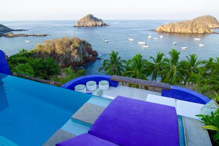 Spectacular Beachfront Casita / Luxury & Style - Costa Careyes
