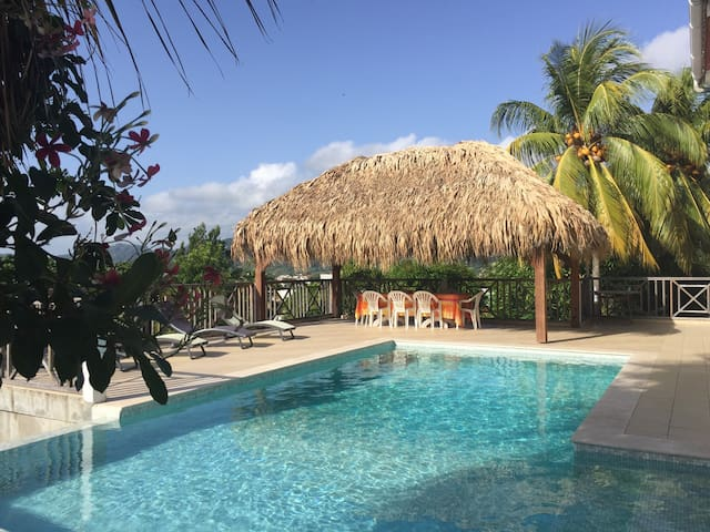 Appart. 76m2, piscine et jardin - Le Robert - Daire