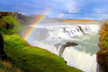 Gullfoss waterfall just 27 km away