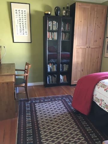 Your room has a refrigerator, coffee/tea service and a quiet work/study space