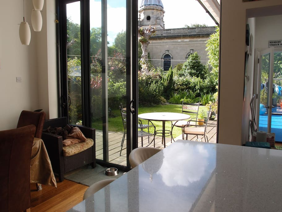 View from kitchen