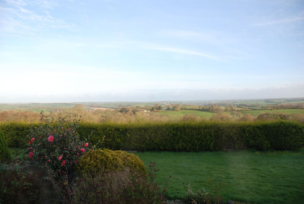 View from our garden towards Exmoor National Park