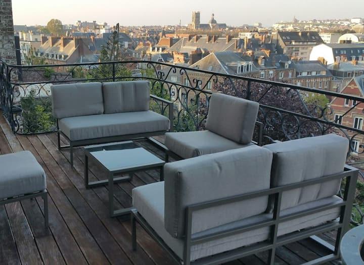 La terrasse de Dieppe 4* : vue exceptionnelle