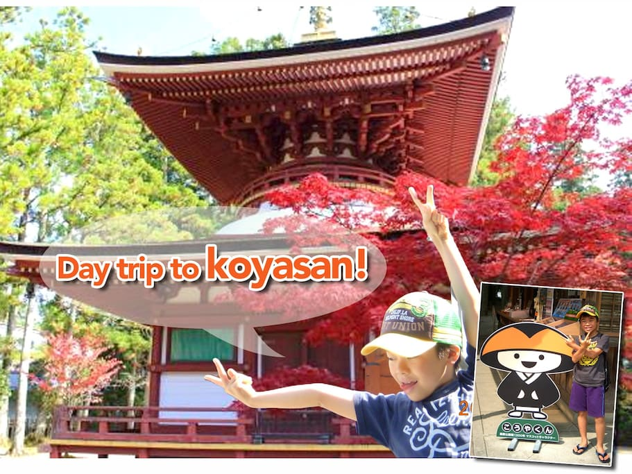 Day trip to Koyasan. It takes 2.5hours from our hostel.