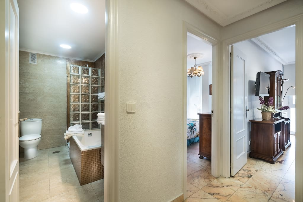 Bathroom and the other spaces (apartment 1)