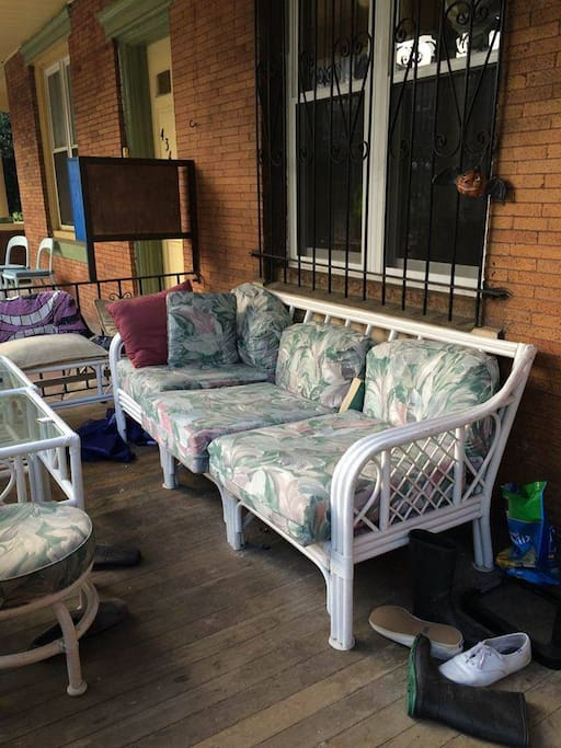 You can't miss the opportunity to hang out on this West Philly porch.