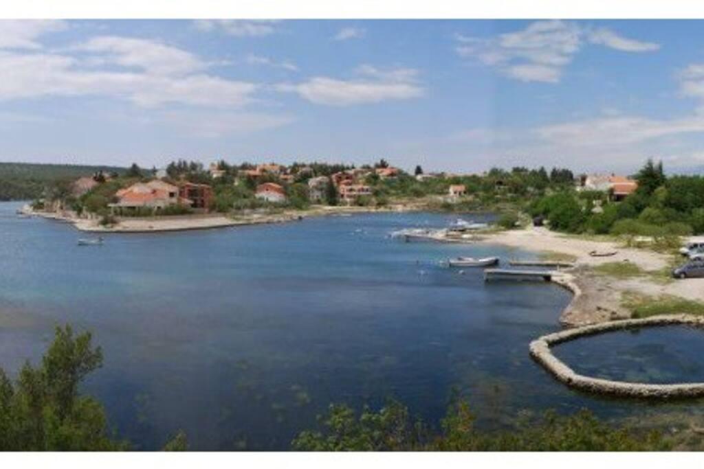Panorama of beach Pisak in Ribnica