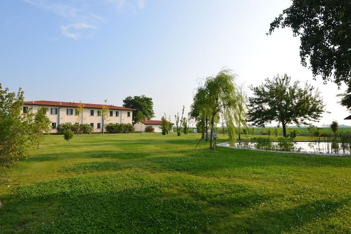 Apartment in the Po Valley, with pool and wellness center
