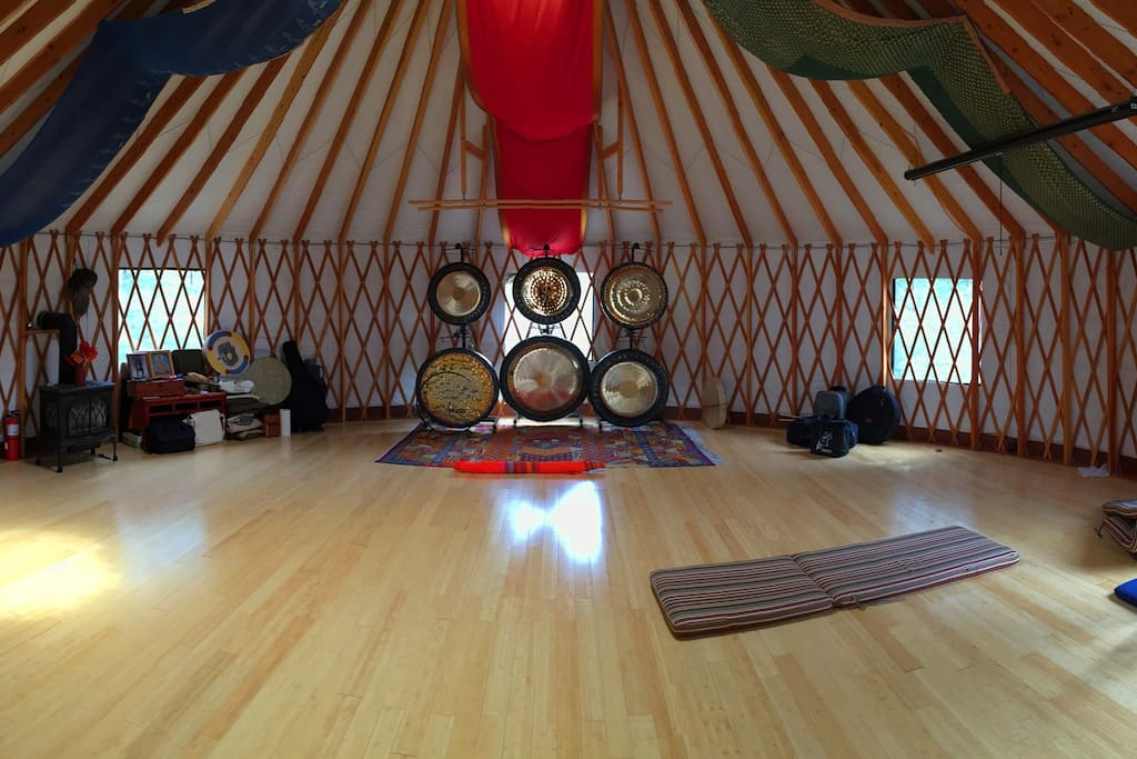 The Multi-Use Yurt Space. Heated and Insulated.