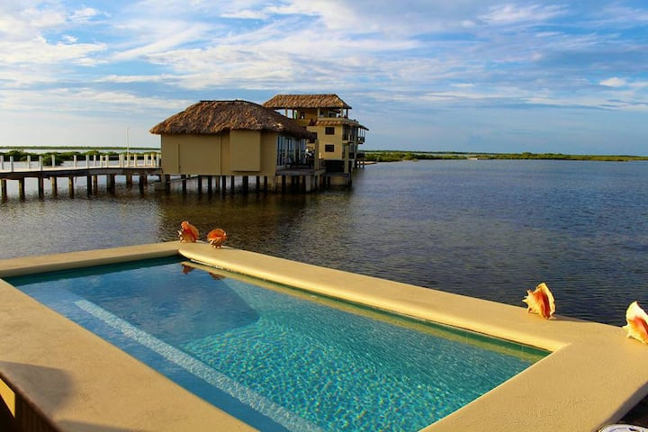Overwater Cabana w/ glass floors & private pool.