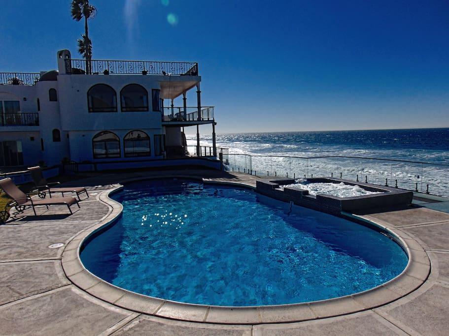 Casa Brisa Mar Oceanfront Poolside Beach House Vacation