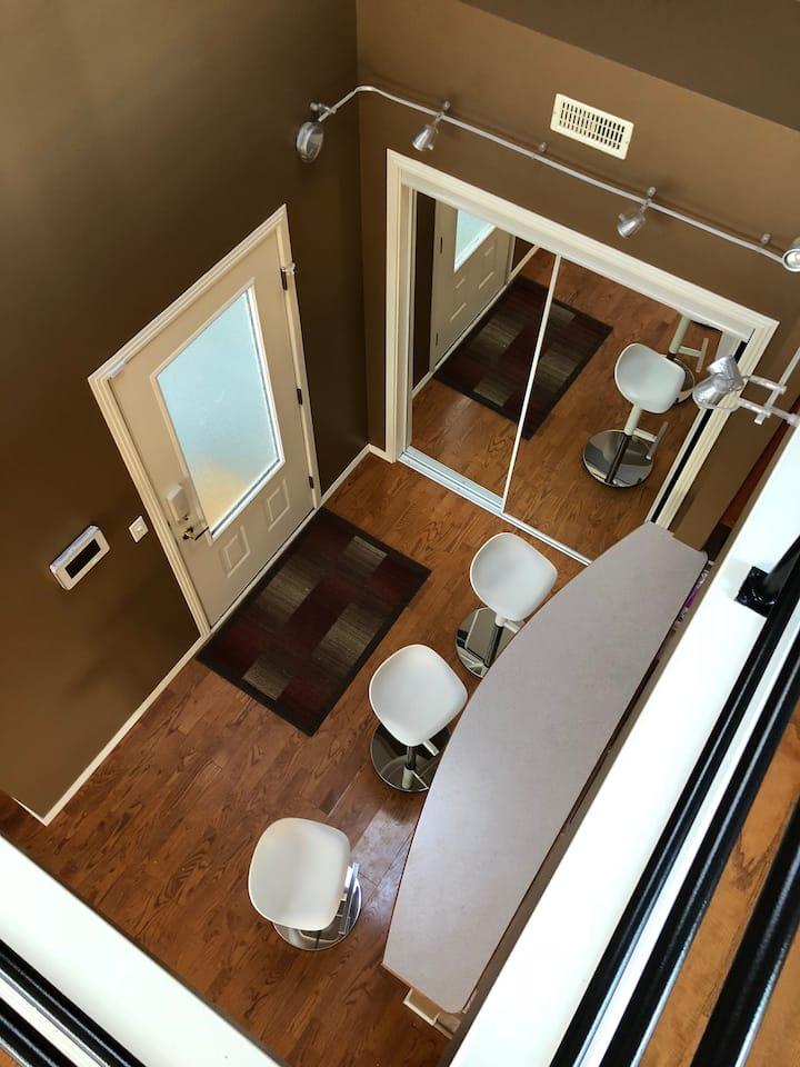Penthouse executive loft  with oversized deck