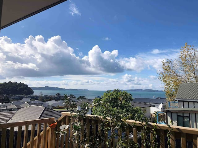View from the deck over Kawau Bay