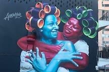 Street art around the block