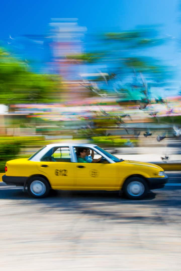 Panning Technique with a Taxi