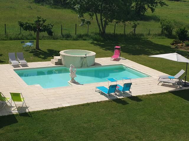B&B La Pastorale Gourmande - zwembad - rust
