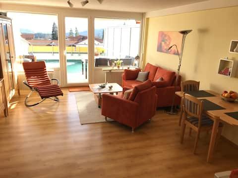 Apartament confortabil cu balcon mare