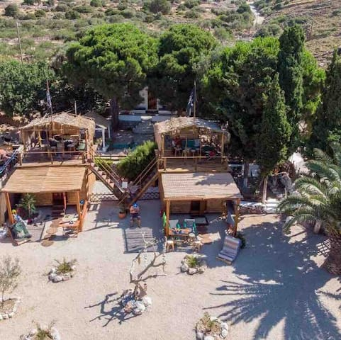 Kalymnos 'Black Pearl' Beach-luxury Holiday Cabin.