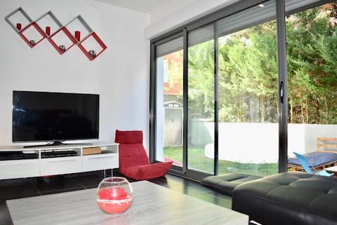 Appartement cosy et extérieurs aux portes de Lyon