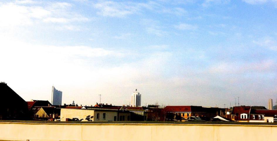 Gemütlich mit Blick auf die Stadt - Leipzig - Daire