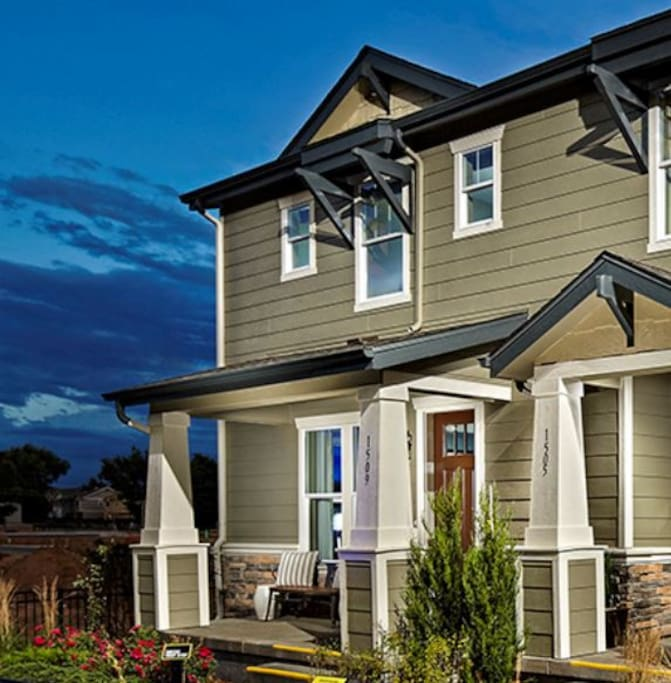 exterior view -- this is from the model brochure as our landscaping is not yet installed.