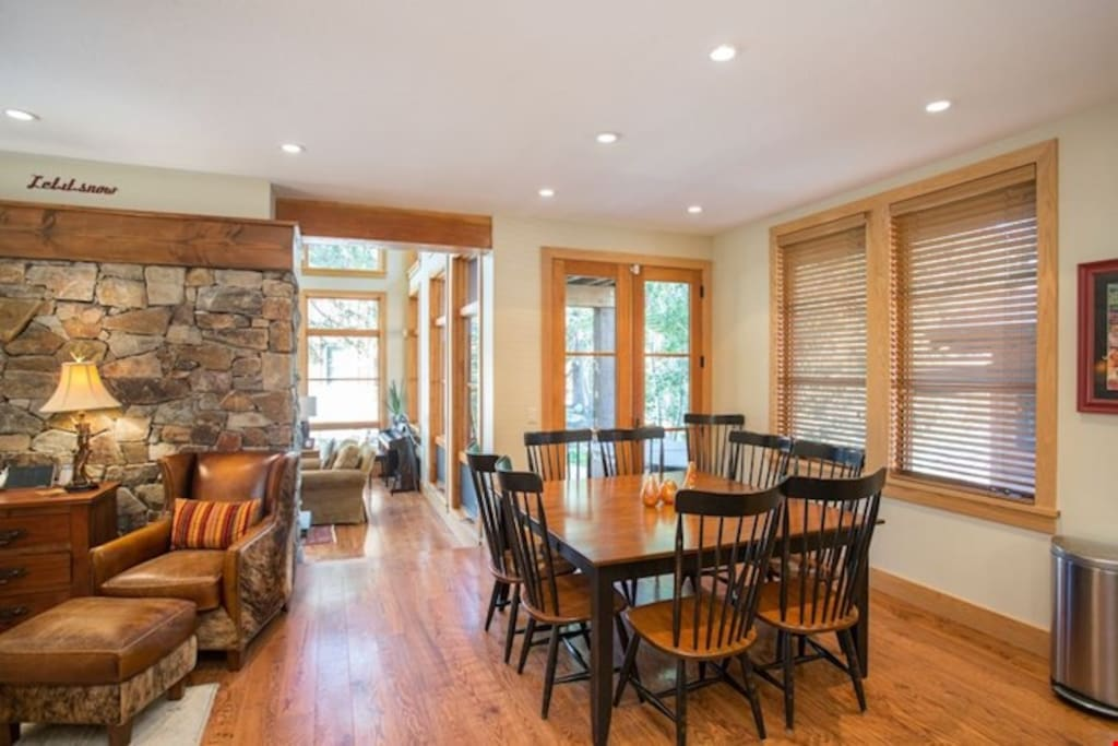Entertain with family and friends at the dining room table.