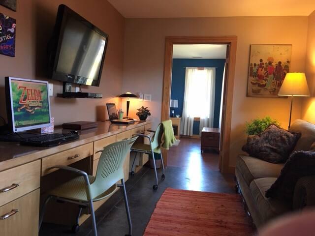 Blue Sky Bedroom on the Prairie