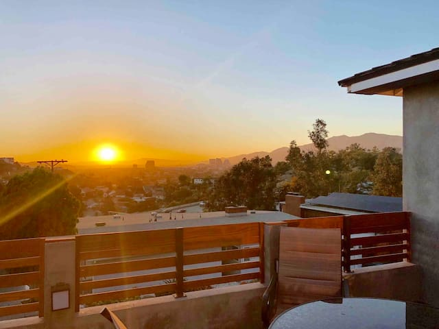 Private Remodeled Home with City Views and Sunsets