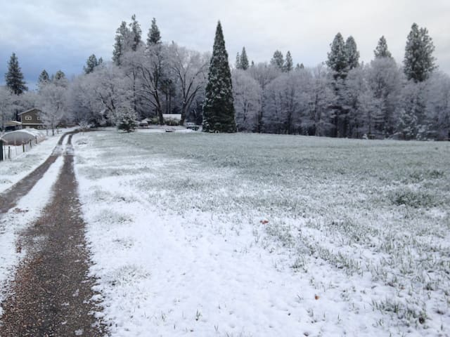 Farm in winter. We're only 45 min from Sugar Bowl, Royal Gorge and other ski resorts.