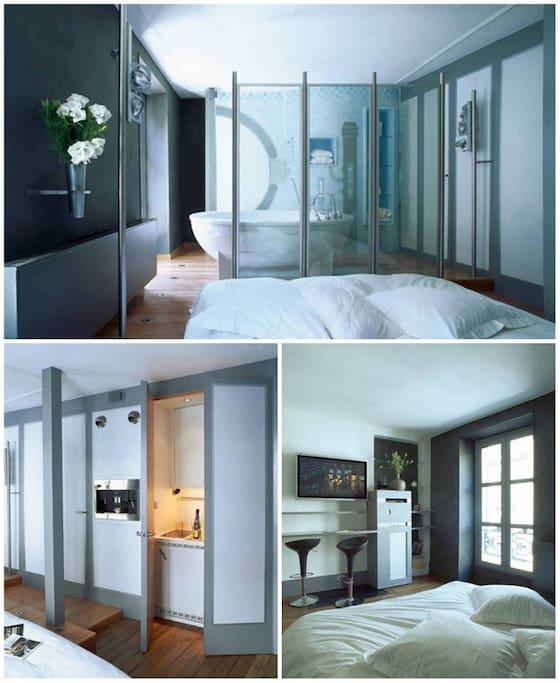 Loft d architecte montmartre lofts louer paris for Architecte ile de france